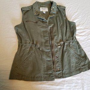 Large American Rag Green Utility Vest